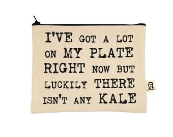Ich habe viel auf meinem Teller jetzt aber keine Grünkohl-Beutel