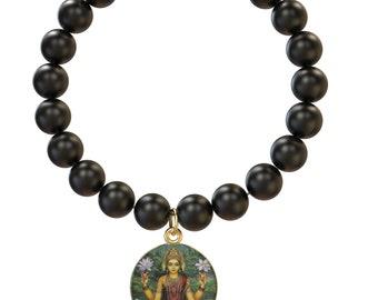 Lakshmi Beaded Bracelet (Hindu Goddess of wealth, love, prosperity)