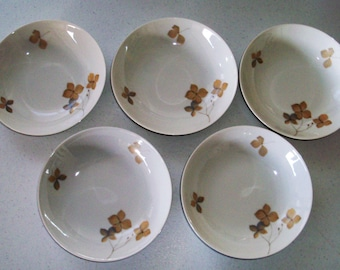 Rosenthal Wood Nymph Set Of 5 Small Coupe Soup Bowls