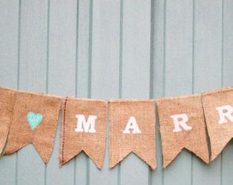Just Married Wedding Bunting Garland Decoration Banner