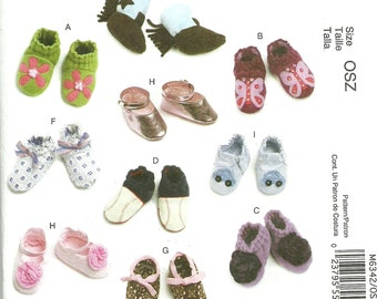 MCCALLS PATTERN M6342, baby shoes and booties, all kinds, for both boys and girls, new and uncut