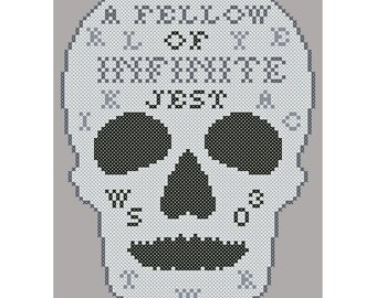 Infinite Jest - Original Cross Stitch Chart | Inspired by William Shakespeare / Hamlet