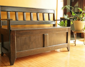 Storage Bench / Mission style/ NOW ON SALE
