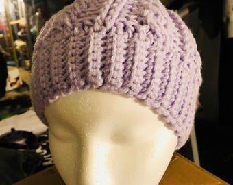 Purple Messy Bun Hatt