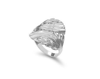 sterling silver ring, index finger ring, fancy ring.