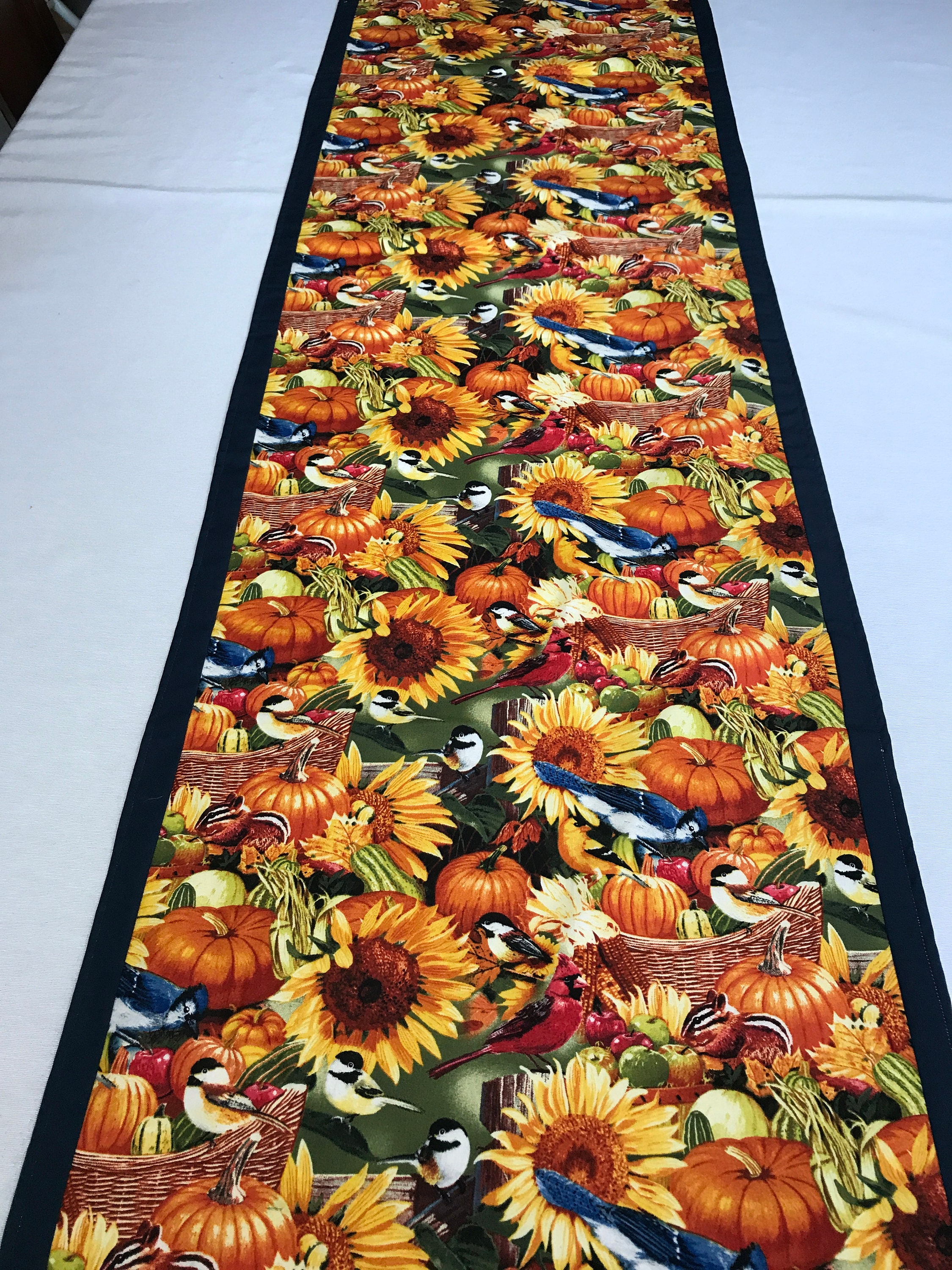 Colorful Table Runner, Floral Table Runner, Fall Table Runner, Autumn Table  Runner, Fall Decor, Dining Table Runner, Autumn Decor
