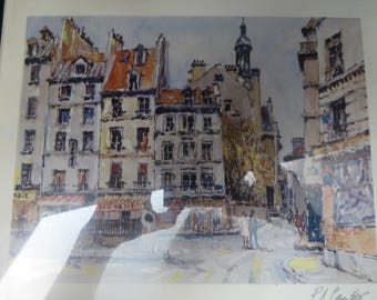 Pierre Eugene Cambier signed seriolithograph with COA