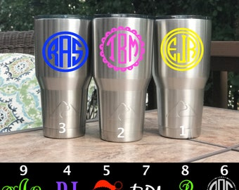 Monogram stainless steel Tumbler (like Yeti Tumbler / Yeti cup) Monogram on Stainless steel cup tumbler-Personalized tumbler, cold water cup