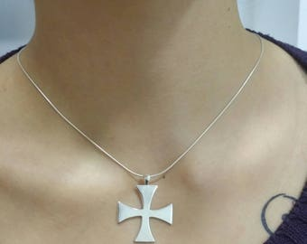 sterling silver cross 925, with 925 sterling silver chain
