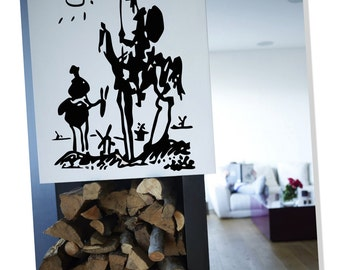 "Wall Art inspired by Picasso's ""Don Quixote"" vinyl wall decal for your livingroom and bedroom wall art decor (ID: 111003)"