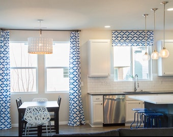 Custom Roman Shade- Any Fabric. Flat Roman Shade, Fully Functional Shades, Blackout Window Treatments, White Roman Shades