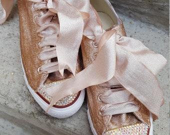 Custom Glitter Crystal Converse