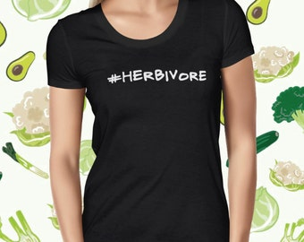 Herbivore Tee Shirt Cute Vegan Tee Vegan Shirt Vegetarian Tee Plant Based Tee Herbivore T-shirt Vegan T Shirt Plants Are Friends Planteeful