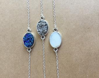 Druzy Bracelet, Drusy, Blue Druzy Bracelet, Druzy Jewelry,