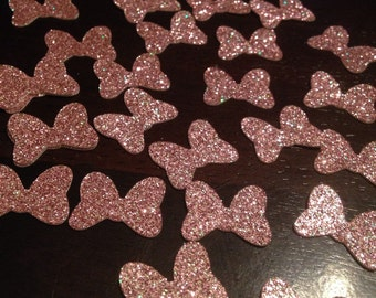 Glitter Minnie Mouse Bow Confetti