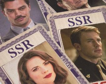 Marvel, Strategic Scientific Reserve ID Badge, Captain America The First Avenger, SSR, Agent Peggy Carter, Steve Rogers, Howard Stark
