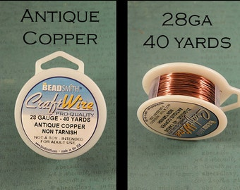 28 gauge wire etsy 28 gauge wire antique copper craft wire non tarnish from bead smith greentooth Choice Image