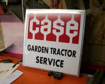 Case Garden Tractor Service lighted sign light up 21x21x4
