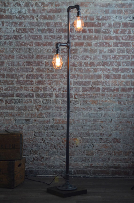 Pipe floor lamp industrial floor lamp edison bulb pipe floor lamp industrial floor lamp edison bulb standing lamp bulb cage modern lamps mozeypictures Image collections