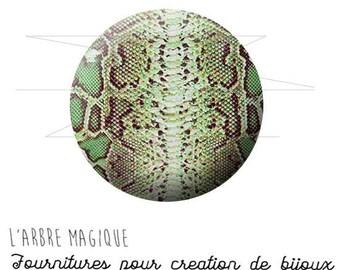 Cabochon 25 mm snake skin fantasy animal wild ref 1570
