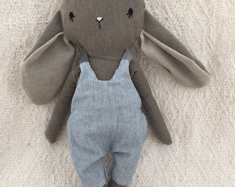 Large stuffed Bunny with bow