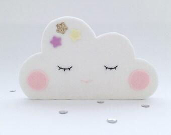 Wooden figure, cloud, lilac, Large