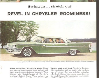 1959 Chrysler Windsor 4 Door Hardtop ~ Original Ad