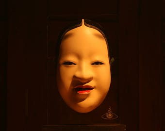 Japanese Noh Mask, KOOMOTE, REAL Wood, Full-Size