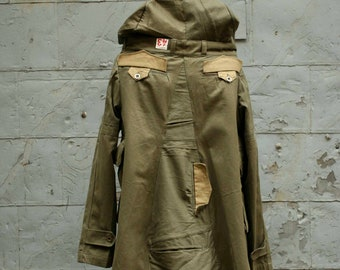 Women's Hooded Army Jacket , Women's Outerwear , Military  Coats, Army Green, Edgy Jackets