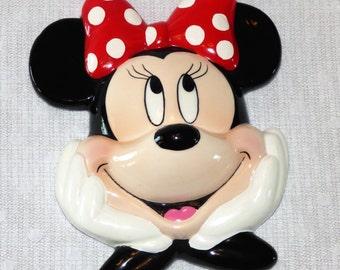 Vintage Enesco Ceramic Minnie Mouse Plaque