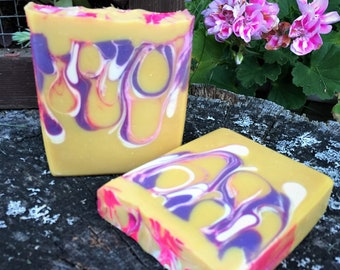 Homemade Soap Bar Soap Hemp Soap Lavender Lemon Soap Cold Process Soap