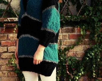 Sweater handmade alpaca and Wool Verdi