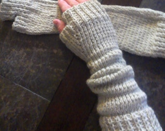 Knit Fingerless gloves, fingerless mitten, glove, Women's fingerless gloves, Arm warmer, fingerless gloves, gift ideas