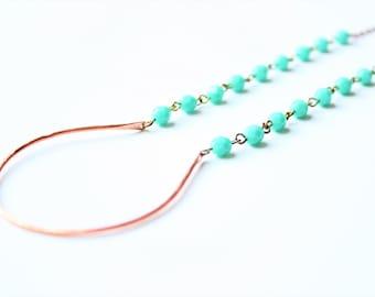 Copper beaded necklace, beaded necklace, Copper necklace