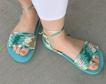 Crocheted Flip-Flop Sandals