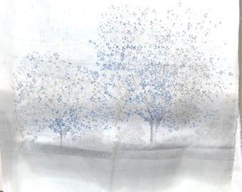 Coupon sheer trees 150 x 220 cm pattern upholstery fabric