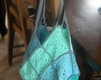 Granny crochet handbag