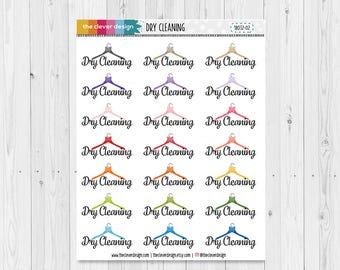 Dry Cleaning Planner Stickers | Dry Cleaning Reminder Stickers | 18032-02