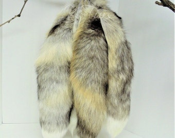 Golden Island Fox Tail Keychain