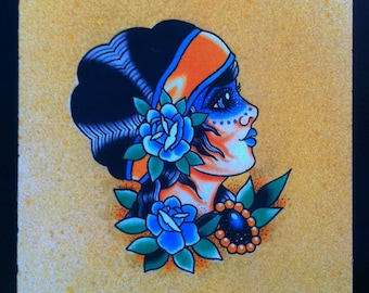Blue Gypsy - Ashley Riot print