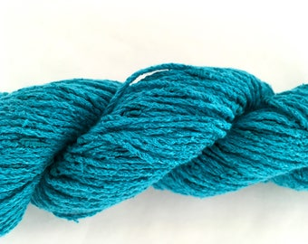 "Vintage Classic Elite ""Believe"" Cotton Rayon Yarn - Turquoise - 50 gr - 93 yds"