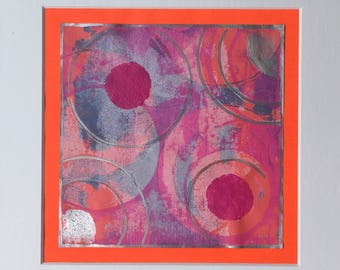 SALE! Original 4 colour monotype print
