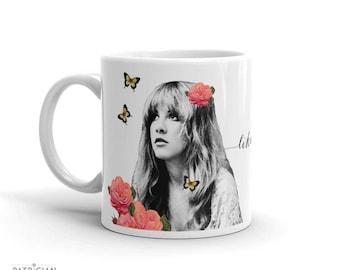 Stevie Einschnitte Rhiannon Fleetwood Mac-Becher, Kaffeebecher, Keramikbecher, inspirierend Zitat Becher, Geschenke für Frauen, die Hochzeit Becher, Gypsy-Boho-Dekor