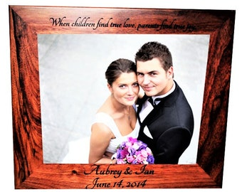 8x10 Laser Engraved Walnut Picture Frame, Custom picture frame, personalized picture frame 8x10 custom engraved Wooden picture frame