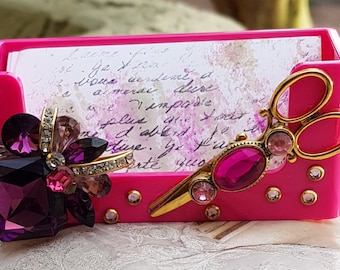 Hot Pink/HairStylist Business Card Holder
