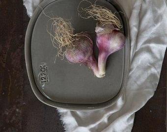 Gray Ceramic Plate, Ceramic Plate Set Of-2, Ceramic Serving Dish, Ceramic Platter, Wedding Gifts