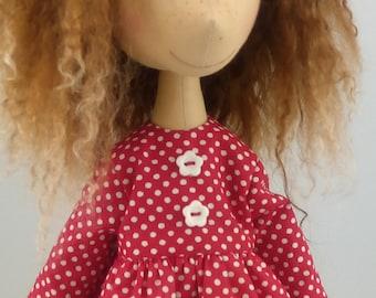 Doll Fabric Doll Handmade dolls Art Doll Dolls Textile Doll Custom dolls Cloth Doll Ooak Textile Doll Textile Doll Textile Dolls Rag Doll