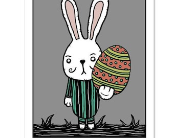 Funny Easter Egg / Easter Bunny Humor - GingerDead Goth / Alt Greeting - Single Card  w/ Envelope