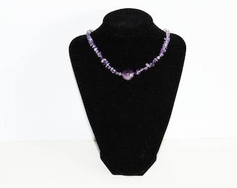 Amethyst Choker,Amethyst Necklace,Amethyst Jewelry,Choker,Gemstone Choker,Amethyst Pendant,Gemstone Pendant,Gemstone Chip Necklace,Necklace