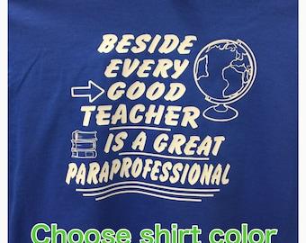 Parapro shirt Teacher shirt teacher gift
